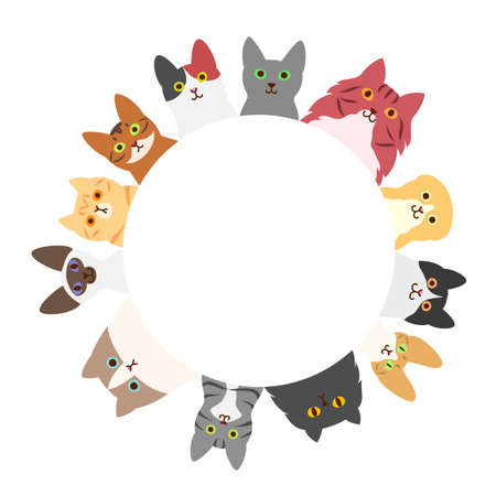 cats circle Illustration