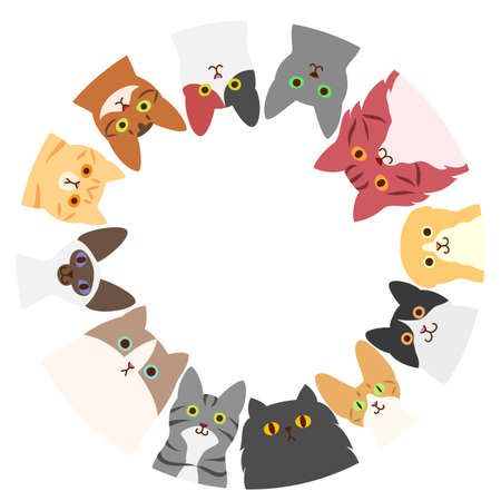 cats circle Illustration