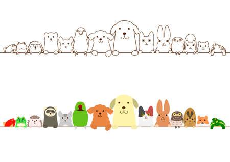 pet animals border set