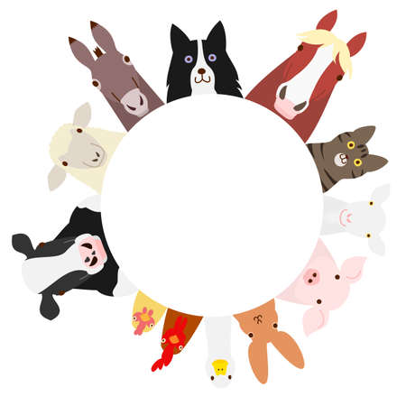 boerderijdieren cirkel
