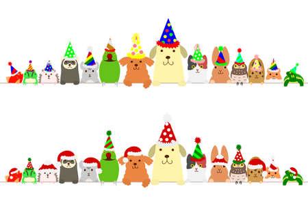 Party Haustier Tiere Grenze gesetzt Standard-Bild - 69002754