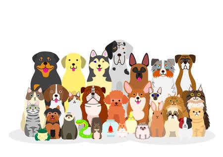 groep van huisdieren Stock Illustratie