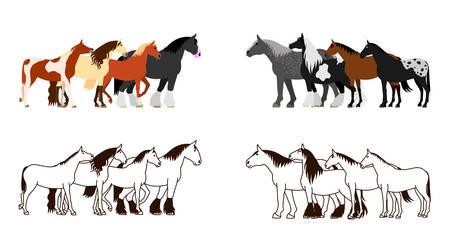 shire: Horse banner set