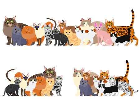 cats group border set