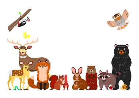 woodland animals background