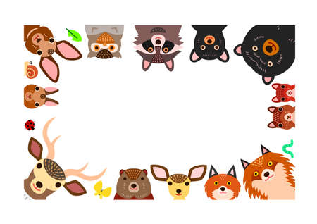 woodland animals frame