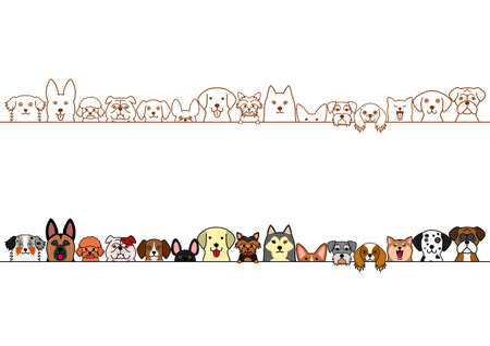 cute dogs border set