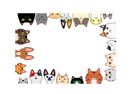 Cute kittens rectangle frame.