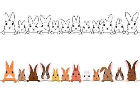 Border set with rabbit design