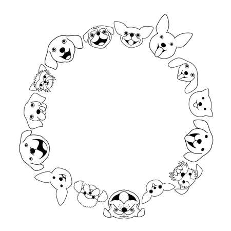 Dogs face circle Illustration
