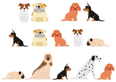 cute dogs vector illustration