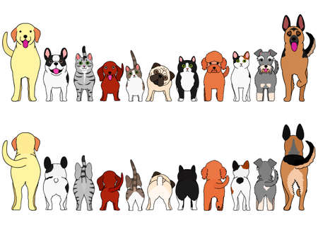 cats and dogs border set