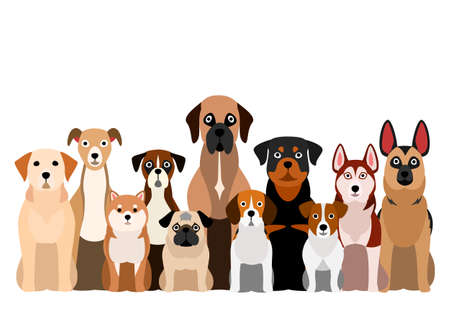 brownish dogs group Stock Vector - 128596029