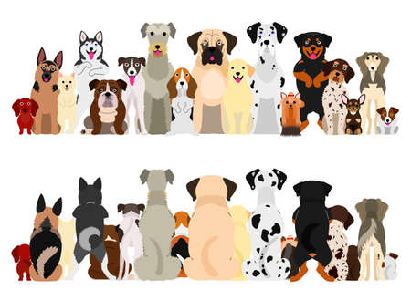 dogs big group set Illustration