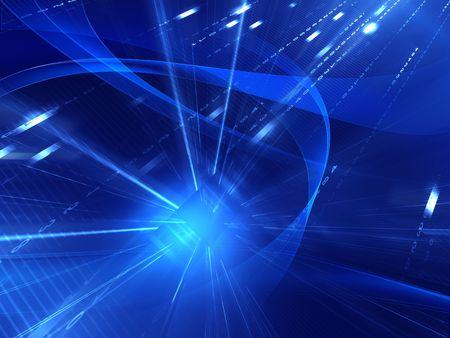 electronic elements: astratto sfondo blu Archivio Fotografico