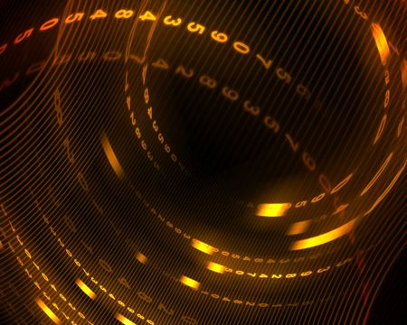circumference: digital abstract background Stock Photo