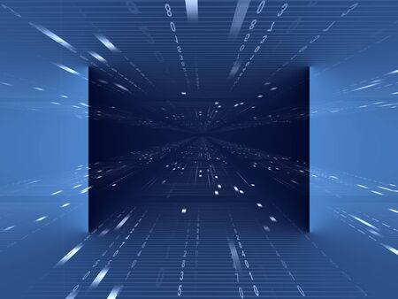 digitally generated: abstract blue background Stock Photo