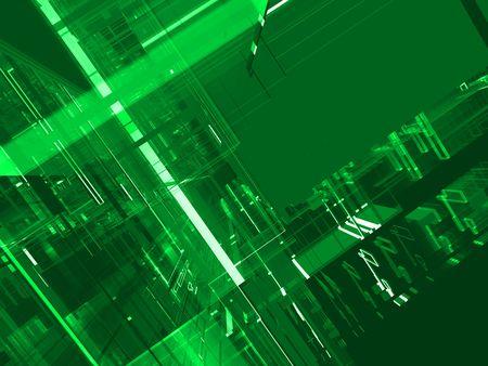 abstract green matrix luminous background Stock Photo - 3543611