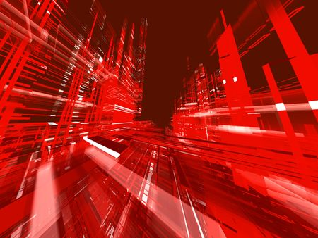 abstract urban red luminous background Stock Photo - 3543592