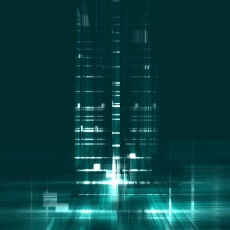 edifice: abstract turquoise background