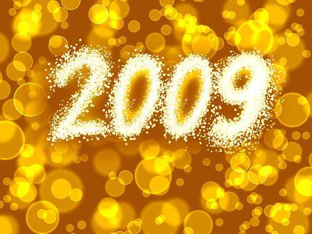 holiday lights  inscription 2009 Stock Photo - 3831919