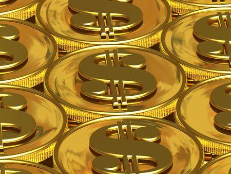 signos de pesos: D�lar de las monedas de oro