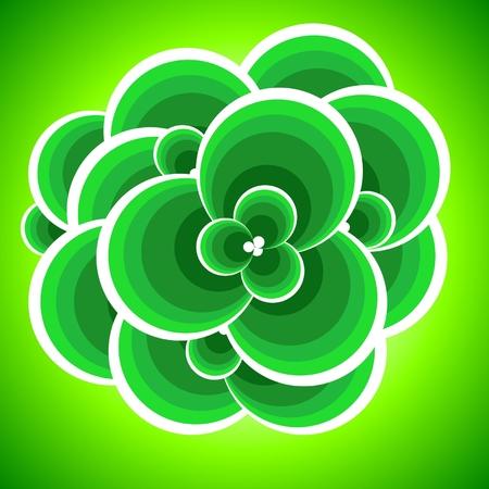 Abstract green foliage. Vector illustration. Stock Vector - 5372188