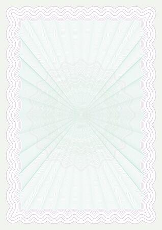 deed: Certificado de papel Vectores