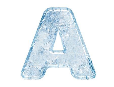 Fuente de hielo. Trazado de recorte de case.With de A.Upper de carta. Foto de archivo - 5582438