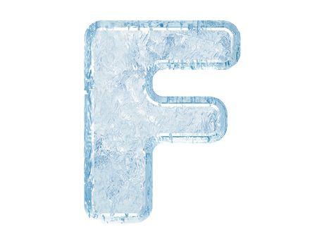 Fuente de hielo. Trazado de recorte de case.With de F.Upper de carta. Foto de archivo - 5582456