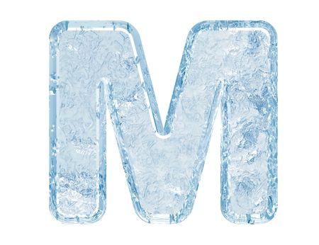 Fuente de hielo. Trazado de recorte de case.With de M.Upper de carta.  Foto de archivo - 5582436