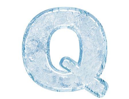 Fuente de hielo. Trazado de recorte de case.With de Q.Upper de carta.  Foto de archivo - 5582446