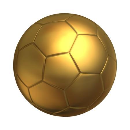 pelota de futbol: Bal�n de oro de f�tbol  Foto de archivo