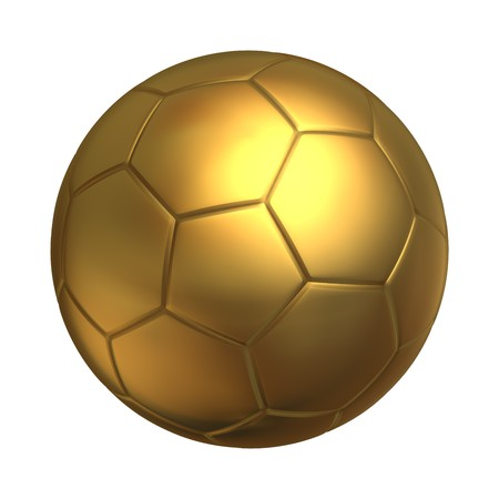 football trophy: Golden soccer ball