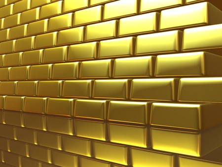 Gold wall photo