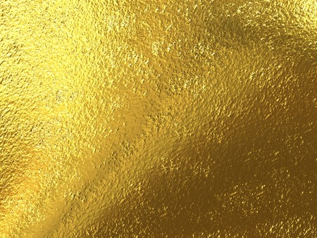 foil: Beautiful rough brilliant metallic texture from gold Stock Photo