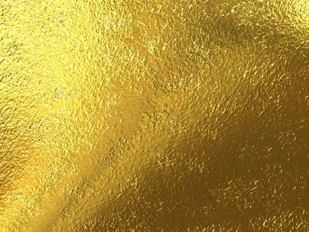 foil: Bella trama da oro grezzo brillante metallico Archivio Fotografico
