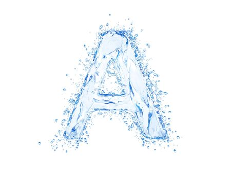 Water splash letter A. Upper case.