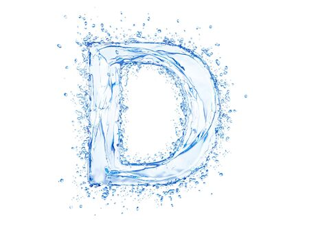 Water splash letter D. Upper case.  photo