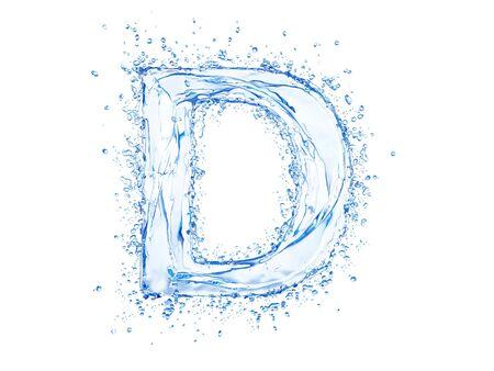 Water splash letter D. Upper case.  photo