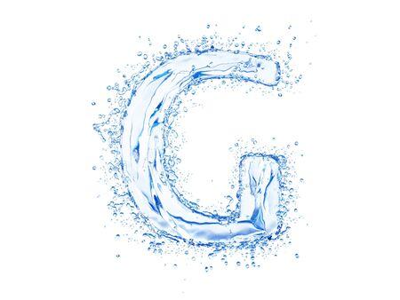 coolness: Water splash letter G. Upper case
