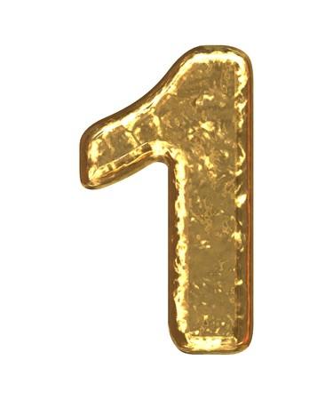 Número de oro como bars.Letter como barra de grano de oro  Foto de archivo - 7617055