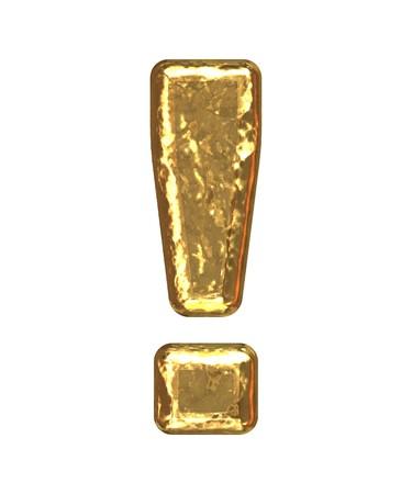 Oro de exclamación como bars.Letter como barra de grano de oro  Foto de archivo - 7617030