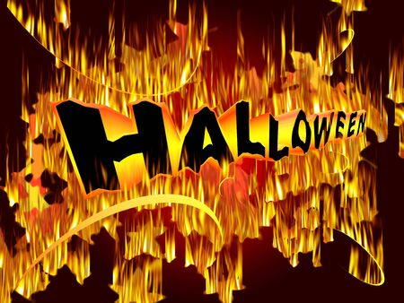 Mystic fire art inscription for Halloween Event Stock Photo - 7617191