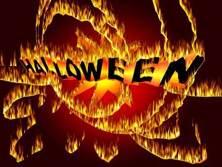 Mystic fire art inscription for Halloween Event Stock Photo - 7617190