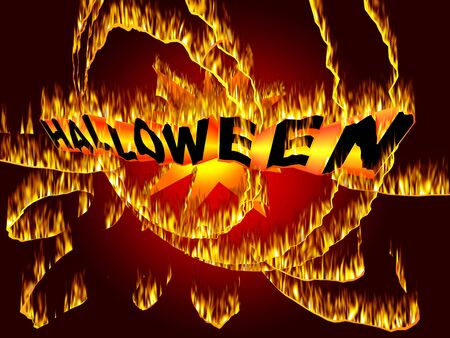Mystic fire art inscription for Halloween Event Stock Photo - 7617190