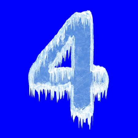 ice alphabet: Icing alphabet. Number four