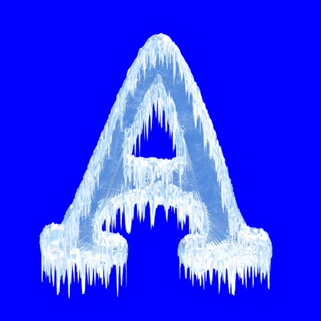 ice alphabet: Icing alphabet. Letter A. Upper case  Stock Photo