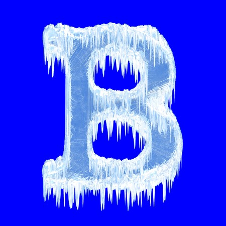 Icing alphabet. Letter B. Upper case  photo