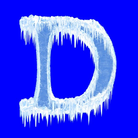Icing alphabet. Letter D. Upper case  Stock Photo - 7617273